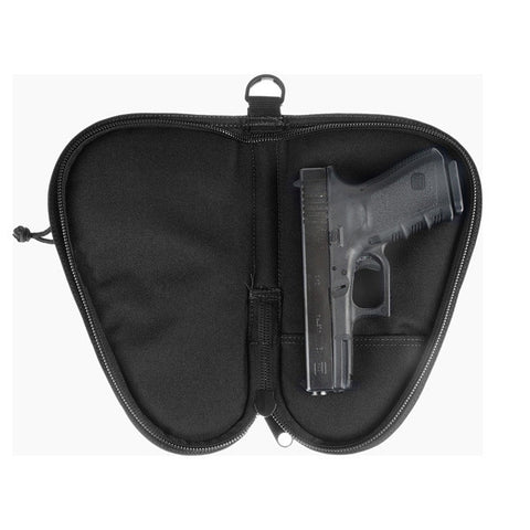 DRAGO GEAR Pistol Case Zipper Mag Pouch, 600D Polyester, Black (12314BL)
