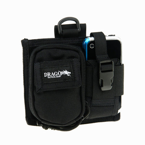 DRAGO GEAR Recon Camera Utility Phone/Recon Case, 600D Polyester, Black (16303BL)