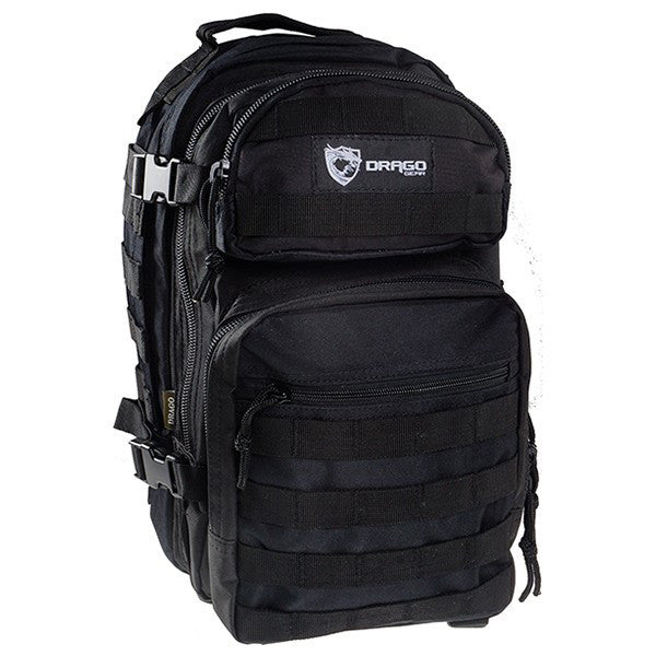 DRAGO GEAR Scout Backpack, Black (14-305BL)