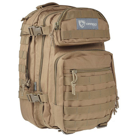 DRAGO GEAR Scout Backpack, Tan (14-305TN)