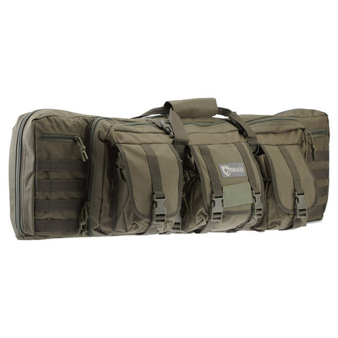 DRAGO GEAR Tactical Double Gun Case, 36 in, 600D Polyester, Green (12301GR)