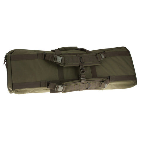 DRAGO GEAR Tactical Double Gun Case, 42 in, 600D Polyester, Green (12323GR)