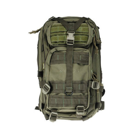 DRAGO GEAR Tracker Backpack, 600D Polyester, Green (14301GR)