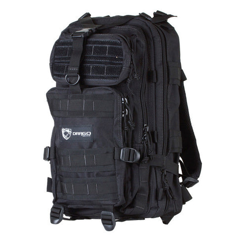 DRAGO GEAR Tracker Backpack, Black (14-301BL)
