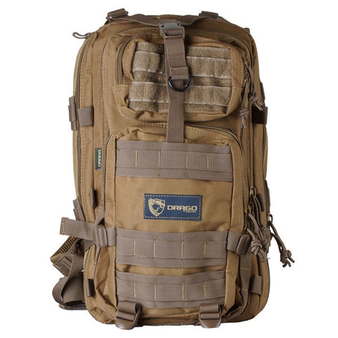 DRAGO GEAR Tracker Backpack, Tan (14-301TN)
