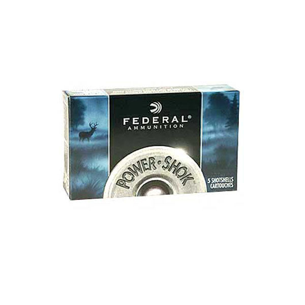 FEDERAL Power-Shok 12 Gauge 2.75in Rifled Slug Ammo, 5 Round Box (F130RS)