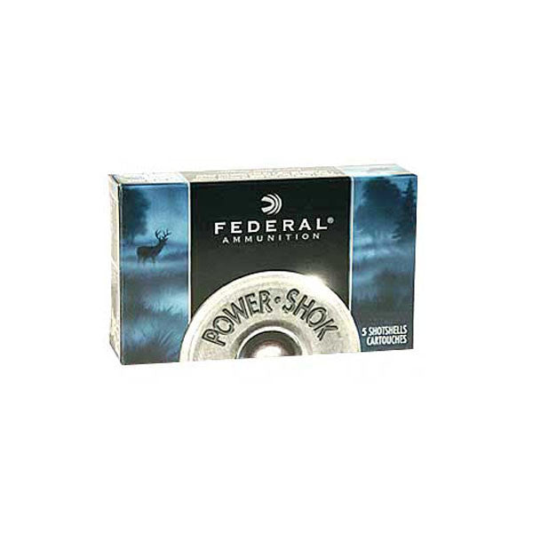 FEDERAL PowerShok Ammunition, 16Ga, 2.75 in, Max Dr .80oz, Rifled Slug Hollow Point, 5 250 (F164RS)