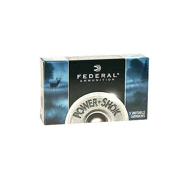 FEDERAL Power-Shok 20 Gauge 2.75in Rifled Slug Ammo, 5 Round Box (F203RS)