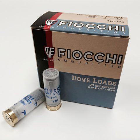 FIOCCHI Game and Target Load Ammo, 12Ga, 2.75 in. Shell, 7.5 Shot Size, 1 oz Shot (12GT75)