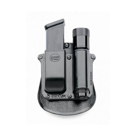 FOBUS Any 1 inch Flashlight and Double Mag S&W M&P 9mm 40 Cal. Paddle Holster (SF6900PMP)