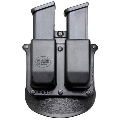FOBUS Double Mag Pouch Paddle Holster Glock 9mm, H&K 9mm (6900P)
