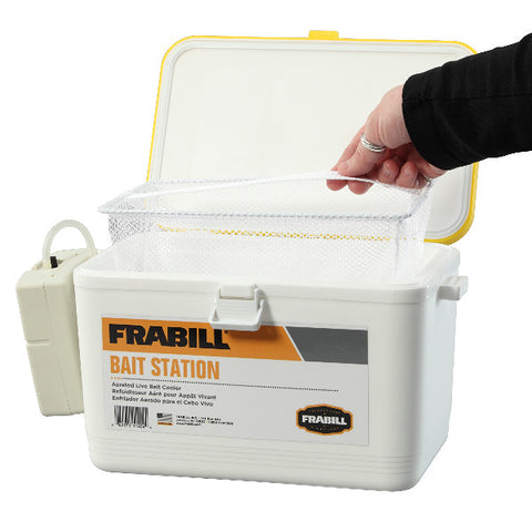 FRABILL Personal Bait Station, 8-Quart, White/Yellow (1404)