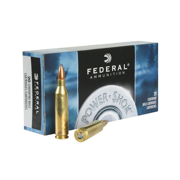 FEDERAL Power-Shok 243 Win. 80 Grain Soft Point Ammo, 20 Round Box (243AS)