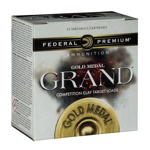 FEDERAL Gold Medal Grand 12 Gauge 2.75in 8 Lead Shot 25rd Box Shotshells (GMT1138)
