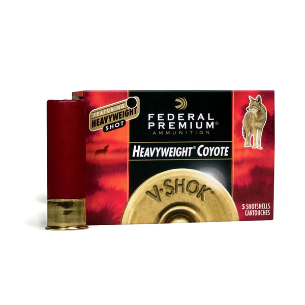 FEDERAL V-Shok Heavyweight Coyote 12 Gauge 3in BB Steel Ammo, 5 Round Box (PHC120BB)
