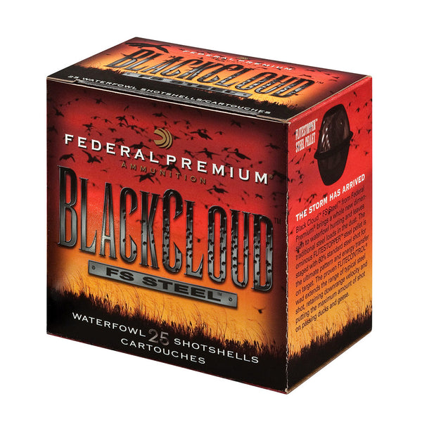 FEDERAL Black Cloud 12 Gauge 3in BBB Steel Ammo, 25 Round Box (PWB142BBB)