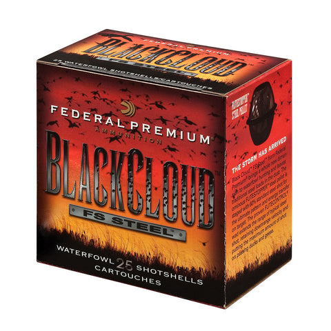 FEDERAL Black Cloud Ammunition, 12 Ga, 3 in, 1.25 oz, 25 Rd/Box (PWB142BBB)