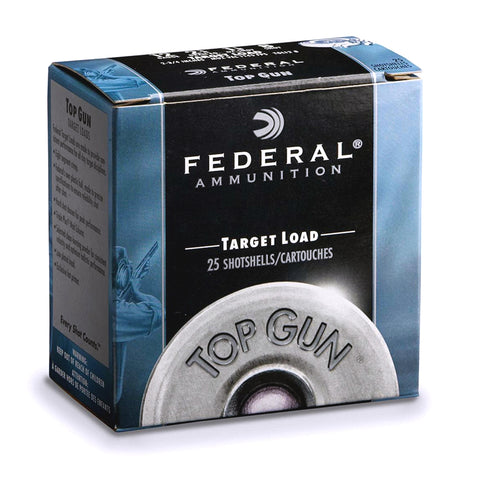 FEDERAL Top Gun Target 12 Gauge 2.75in #7.5 Lead Ammo, 25 Round Box (TGL1275)