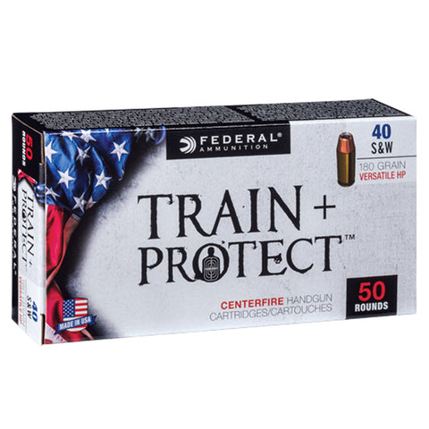 FEDERAL Train Plus Protect 40 S&W 180Gr Verastile Hollow Point Handgun Ammo (TP40VHP1)