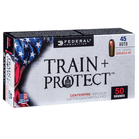 FEDERAL Train Plus Protect 45 Auto 230Gr Verastile Hollow Point Handgun Ammo (TP45VHP1)