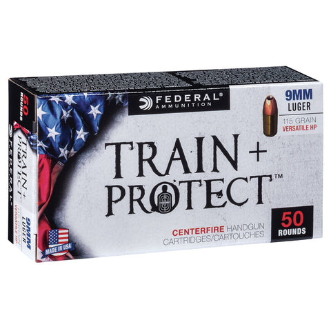 FEDERAL Train Plus Protect 9mm 115Gr Verastile Hollow Point Handgun Ammo (TP9VHP1)