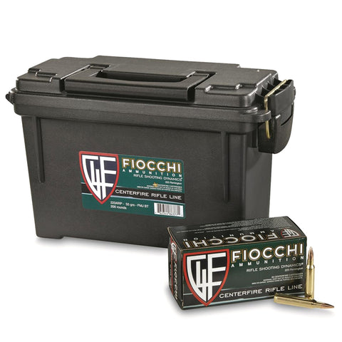 FIOCCHI 223 Remington 55Gr FMJBT Rifle Ammo (223ARP-CASE)