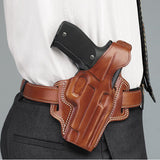GALCO Fletch Holster, Right Hand, Tan, 4 in., Glk 19, 23 (FL226)