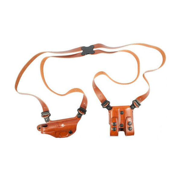 GALCO Miami Classic Shoulder Holster, Right Hand, Tan, 4 in., Walther PPK/S (MC204)