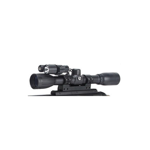 GAMO HP Varmint Hunter Air Rifle, 177PEL, 1400fps, 18 in. w/4x32 Scope, Light, Laser (6110087154)