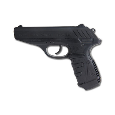 GAMO P-25 Blowback CO2 Pistol, 177PEL, 450fps, 7.72 in. Grip, 3 Dot Fixed Sights, 16Rd (611138054)