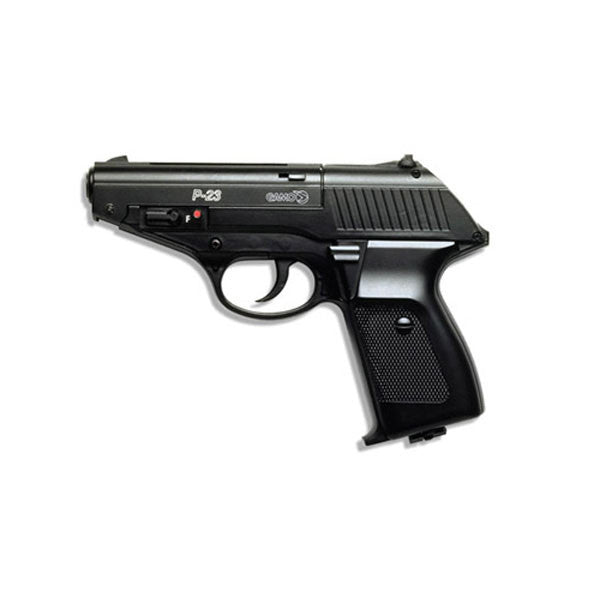 GAMO P23 CO2 Pistol, 177PEL, 22PEL, 410fps, 4 in. Black Plastic, Semi Automatic (611134054)