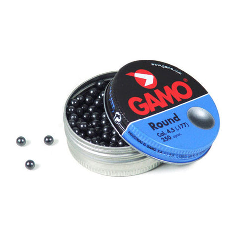 GAMO Roundball BB Pellets, 177BB, Lead Tin, 250 Pack (632032454)