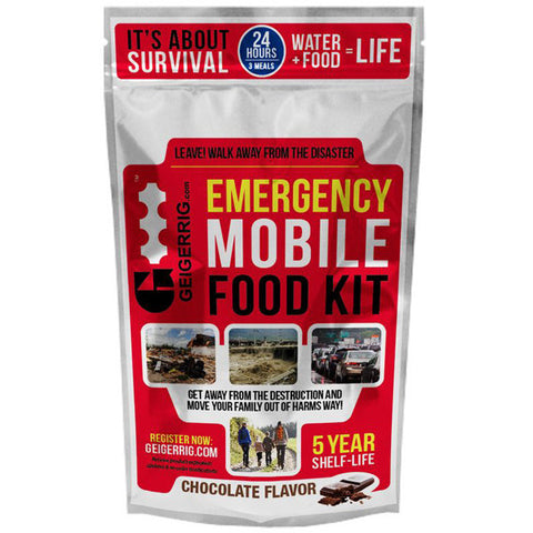 GEIGERRIG Rig Emergency Mobile Food Kit, Chocolate (G4-RIG-Food-Chocolate)