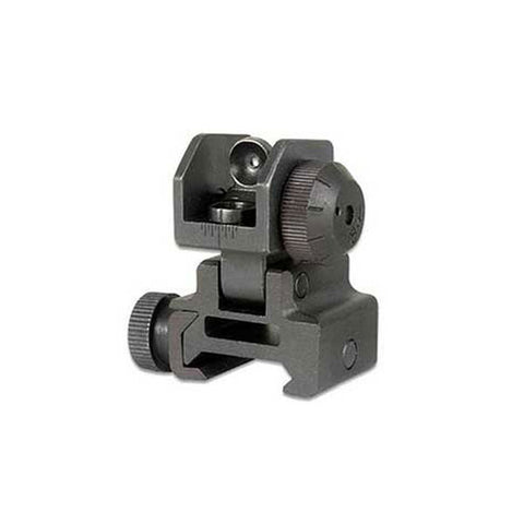 GLOBAL MILITARY GEAR Flip Up Rear Sight, Black (GM-RFUS1)
