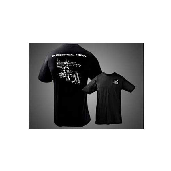 GLOCK BreakDown T-Shirt, Black, XXL (GA10071)