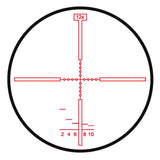 HENSOLDT ZF 6-24x72 Rifle Scope, Illum. 2nd Image Plane Mil-Dot Reticle, 34mm (10139110)