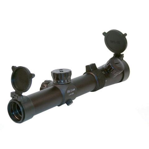 HI-LUX CMR 1-4x24 Scope, Red Illuminated CMR, 1 MOA Center Dot (CMR14X24-R)