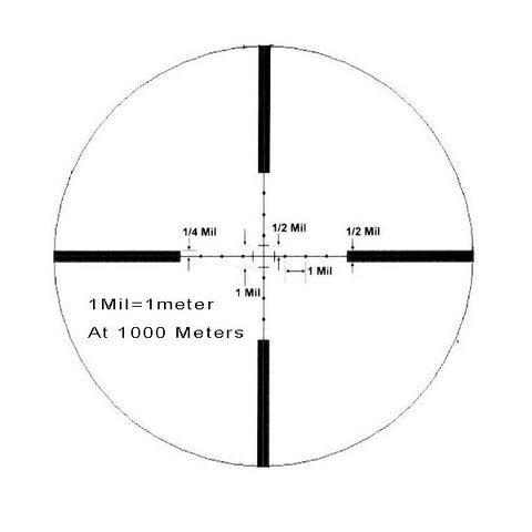 HI-LUX Varmint Country 4-16x50, No Math Mil-Dot Reticle (VC416X50MD)