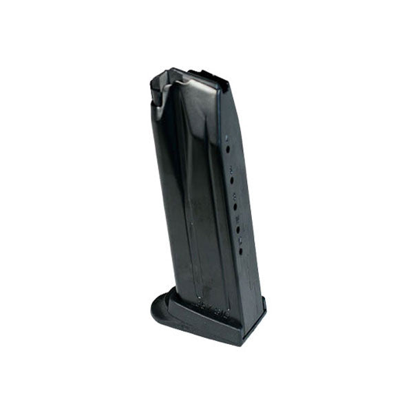 H&K USP Compact 357 Sig/P2000 12 Rd Steel with Extended Floorplate Black Magazine (217818S)