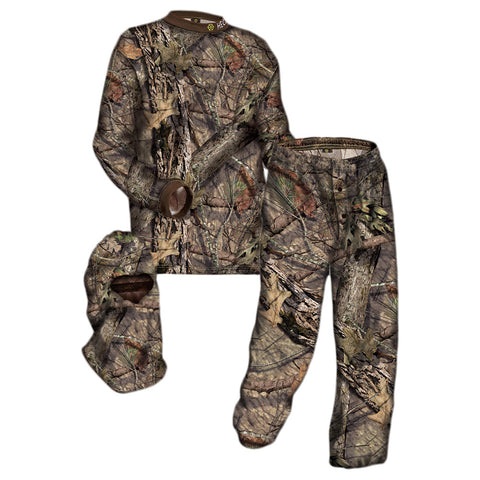 HECS 3 Piece Suit S Size Mossy Oak Country Pant/Shirt and Head Cover (107MOC15)