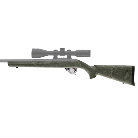 HOGUE Ruger 10/22 Ghillie Green Rubber OverMolded Stock (22810)