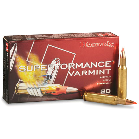 HORNADY Superformance Varmint .222 Rem 50Gr V-Max Rifle Ammo (8316)