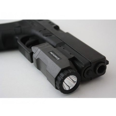 INFORCE APL Auto Pistol Light, White LED, 200 Lumens, Black (APL-B-W)