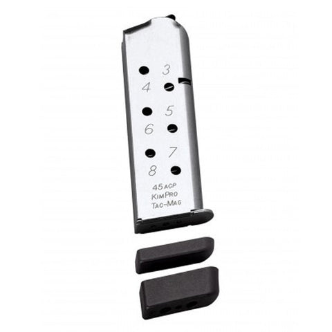 KIMBER 1911 .45 ACP 8 Rd TacMag Magazine, Stainless (1100721A)