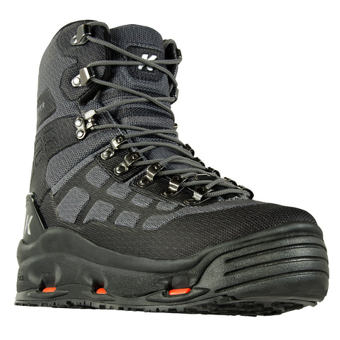 KORKERS FB5110 Wraptr Charcoal Fishing Boots with Felt and Kling-On Soles