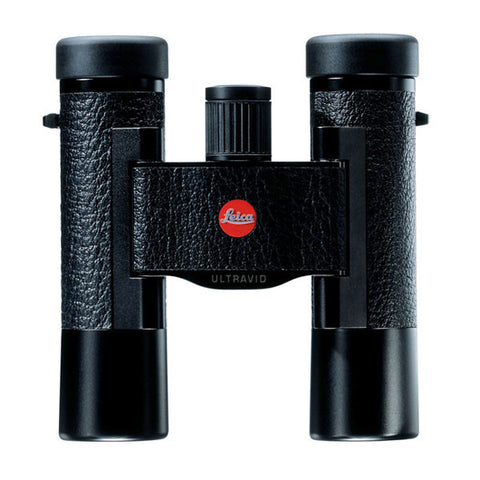LEICA Ultravid 10x25 BCL Compact Binoculars, Black w/Brown Leather Case (40264)