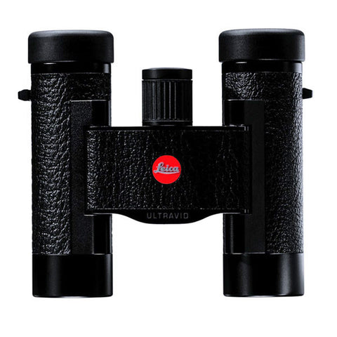LEICA Ultravid 8x20 BCL Compact Binoculars, Black w/Brown Leather Case (40263)