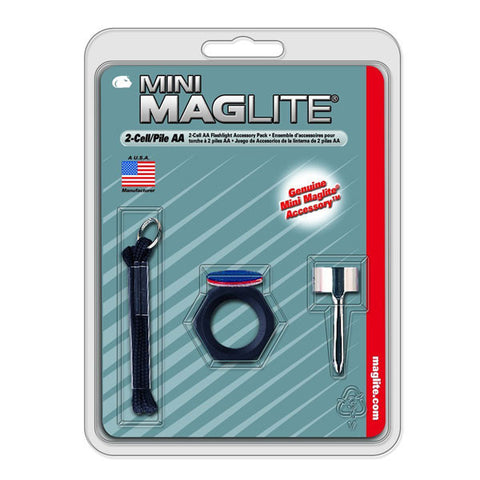 MAGLITE Mini Accessory Flashlight Pack, 2-Cell AA (AM2A016)