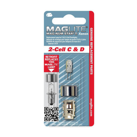 MAGLITE Replacement Lamp, 2-Cell D, Clear (LMXA201)