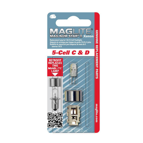 MAGLITE Replacement Lamp, 5-Cell D, Clear (LMXA501)